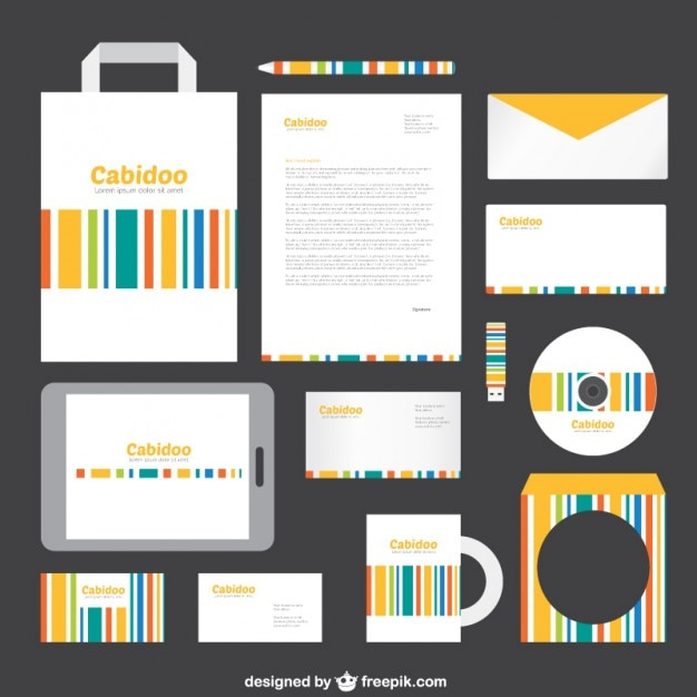 Template For Branding Identity Vector Free Download