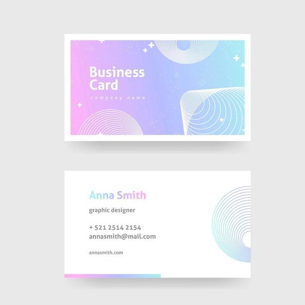 Шаблон для пастельных градиентных визиток Бесплатные векторы