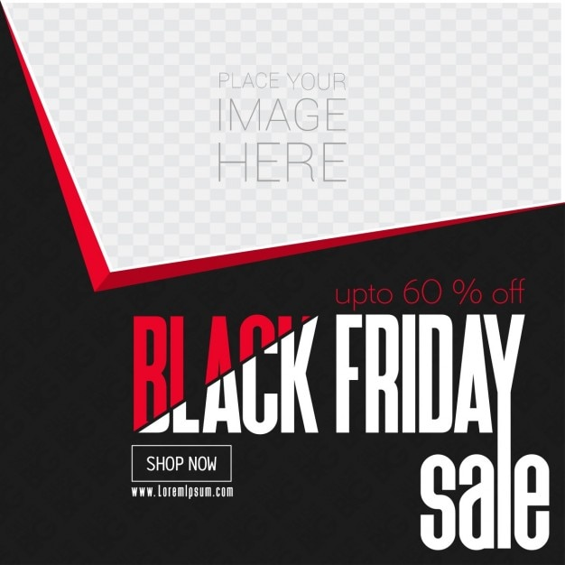 template geometric shapes black friday vector free download
