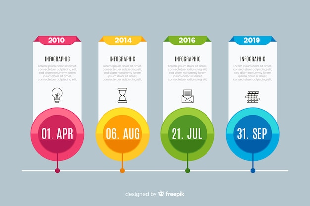 Template for infographic timeline Free Vector