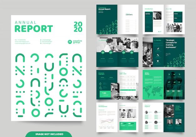 Дизайн макета шаблона с титульной страницей для профиля компании и брошюр Premium векторы