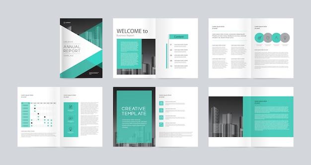 Дизайн макета шаблона с титульным листом для профиля компании, годового отчета, брошюр, листовок, журнала, книги. и шкала размера a4 для редактирования. Premium векторы