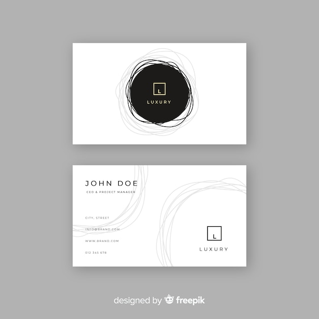 Template luxury business card Free Vector