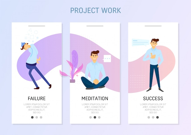Template for mobile applications. Premium Vector