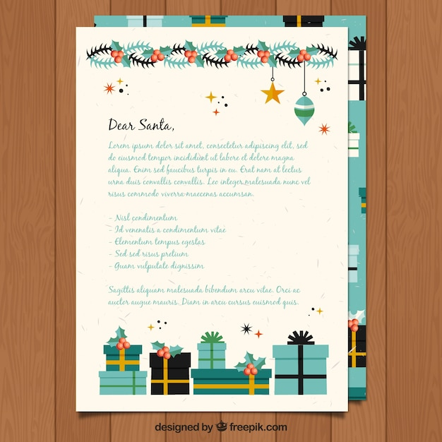 20 unique letter from santa template free download images complete template of a letter to santa with decorations vector free download spiritdancerdesigns Images
