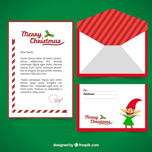 Template of a letter with a christmas elf vector free download template of a letter with a christmas elf free vector spiritdancerdesigns Image collections