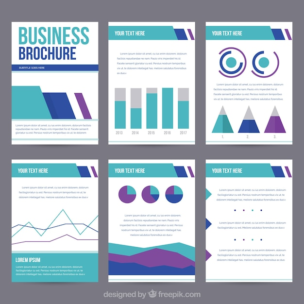 Template of business leaflet with graphs vector free download template of business leaflet with graphs free vector wajeb
