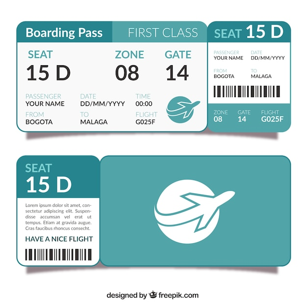 Template Of Flat Boarding Pass Vector | Free Download