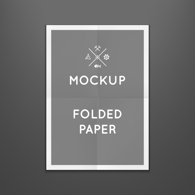template of folded poster placed in interior