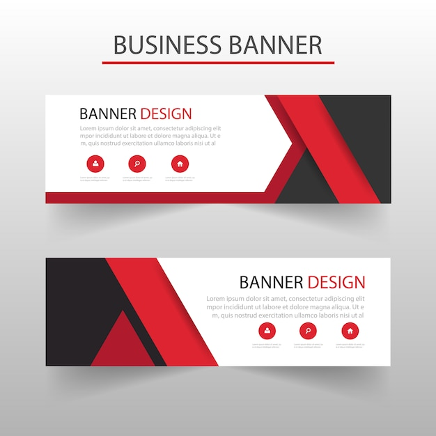 Template of geometric banners with red shapes vector free download template of geometric banners with red shapes free vector pronofoot35fo Choice Image