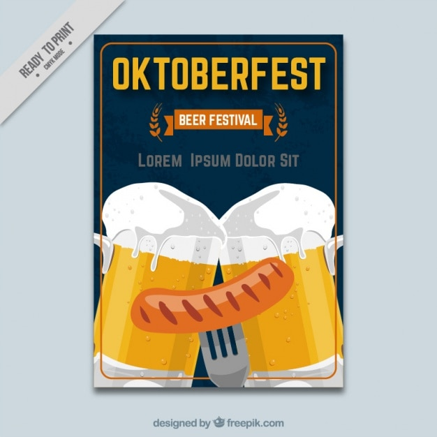 Template of oktoberfest festival brochure