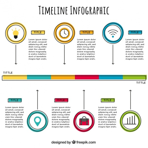 template of timeline infographic vector free download