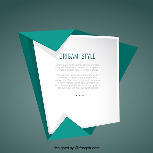 Template in origami style Premium Vector