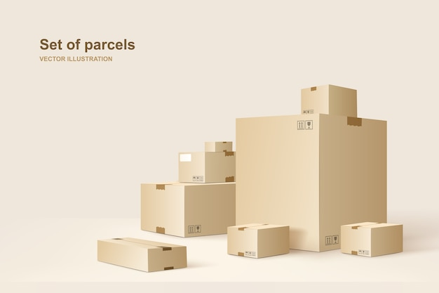 Template of packages Premium Vector