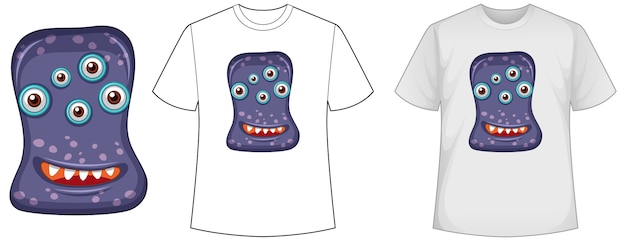 Template shirt with virus Free Vector