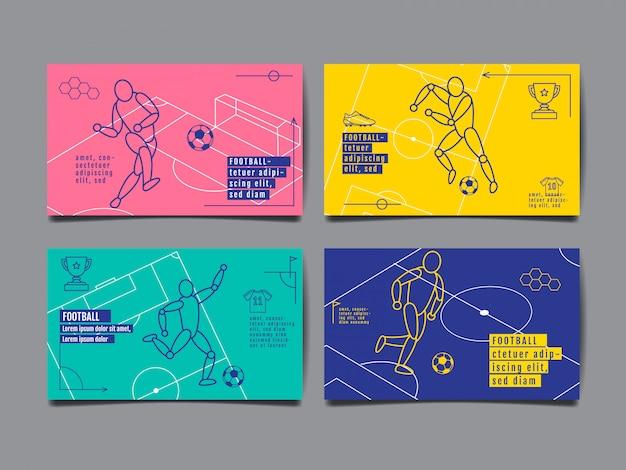 Template sport card Premium Vector