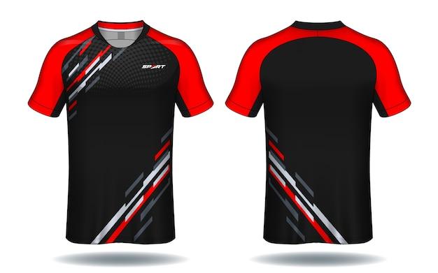 サッカーユニフォームtemplate.sport tシャツデザイン。 Premiumベクター