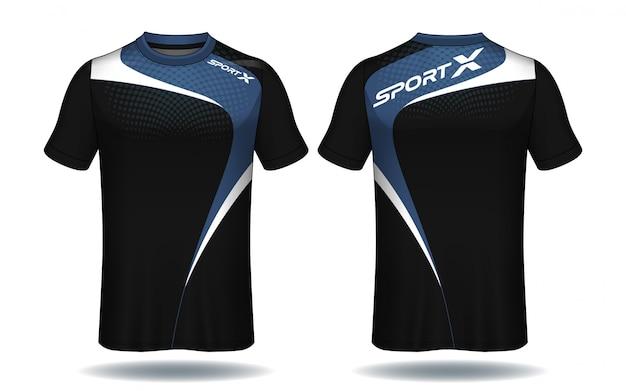 サッカージャージtemplate.sport tシャツデザイン。 Premiumベクター
