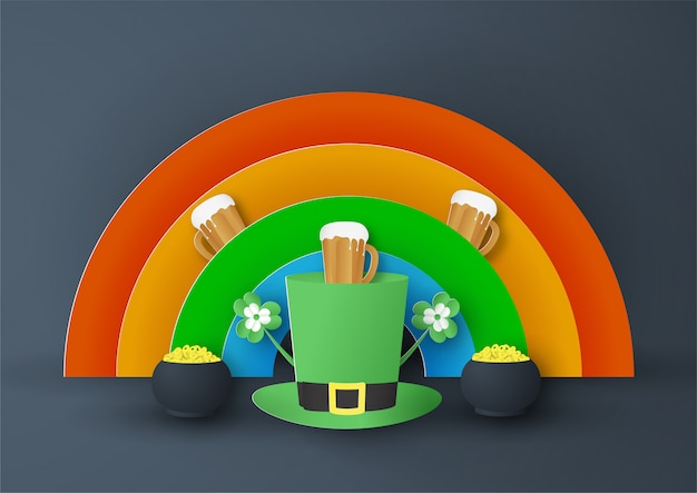 Template for st. patrick's day on sunday Premium Vector