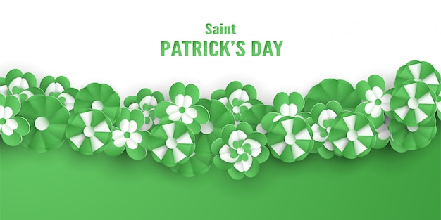 Template for st. patrick's day Premium Vector