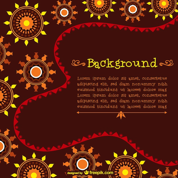 Template With African Pattern Vector Free Download
