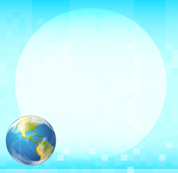 A template with a globe Free Vector