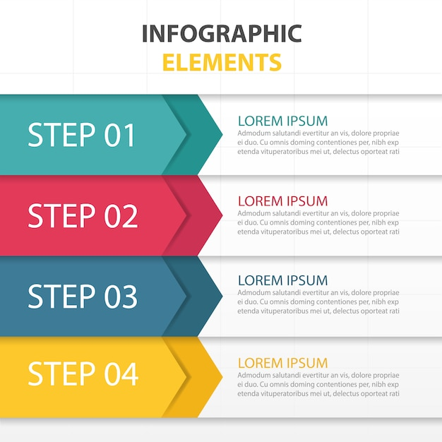 Template with infographic elements Free Vector