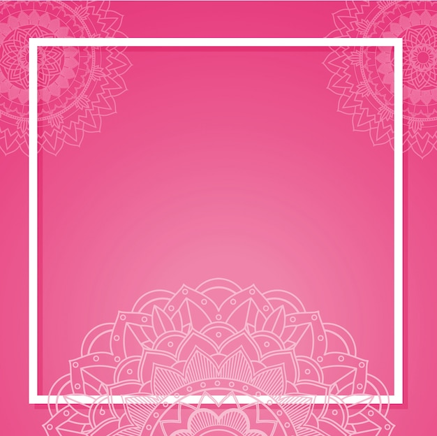 Template with mandala banners Free Vector