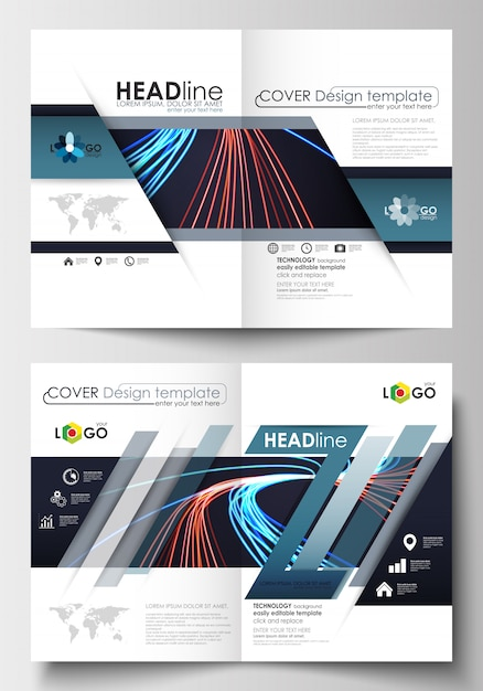Templates for brochure Premium Vector