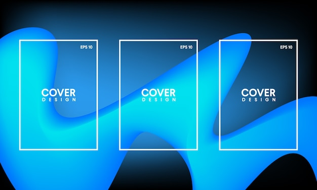 Templates For Abstract Covers Flyers Banner And Posters Vector
