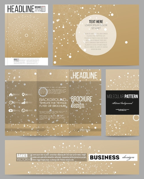 Templates for presentation, brochure, flyer, booklet Premium Vector