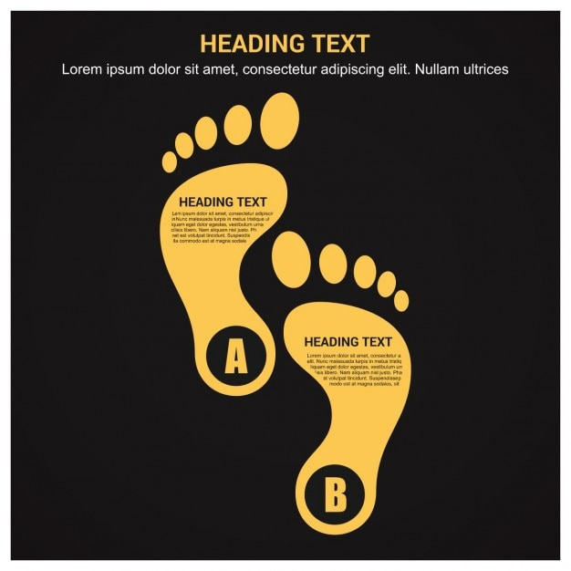 Templates with foot shapes Free Vector