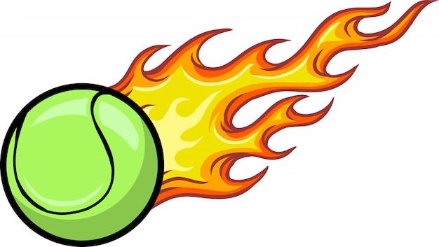 Tennis ball Premium Vector