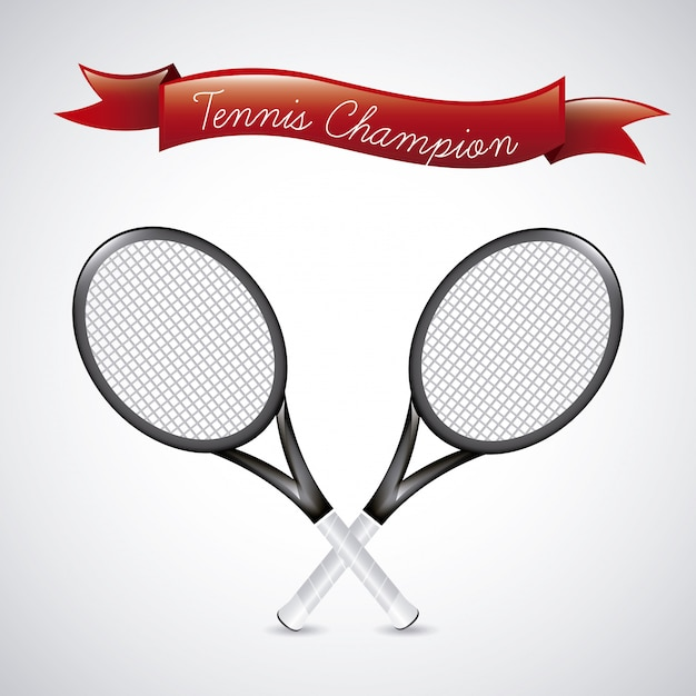 Tennis champions over vintage  background Premium Vector