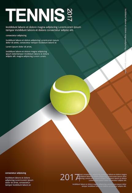 Tennis championship poster vector illustration Premium Vector