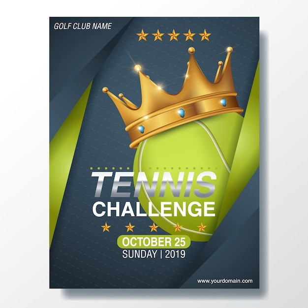 Tennis Competition Front Flyer Template Vector Premium Download