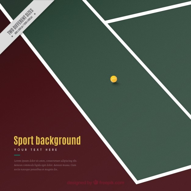 Tennis court with a ball background
