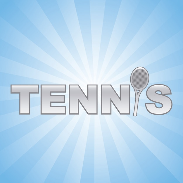 Tennis design over blue background vector illustration Premium Vector