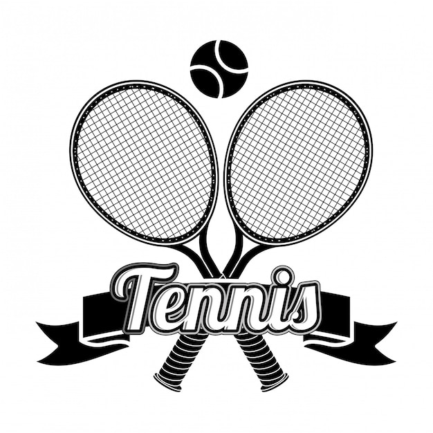 Tennis design Premium Vector