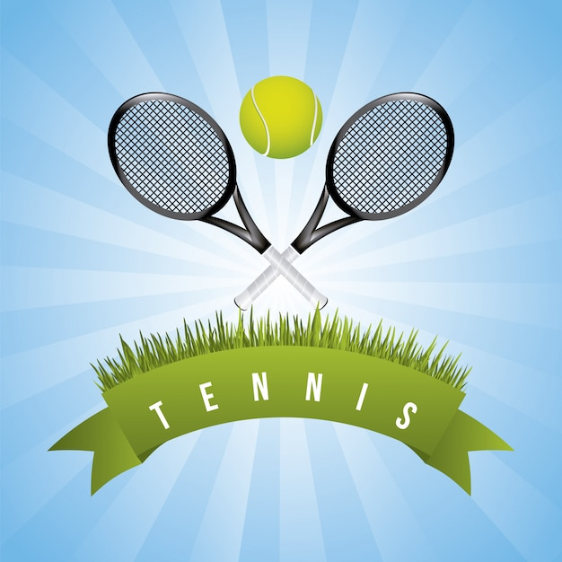 Tennis frame over sky background vector illustration Premium Vector