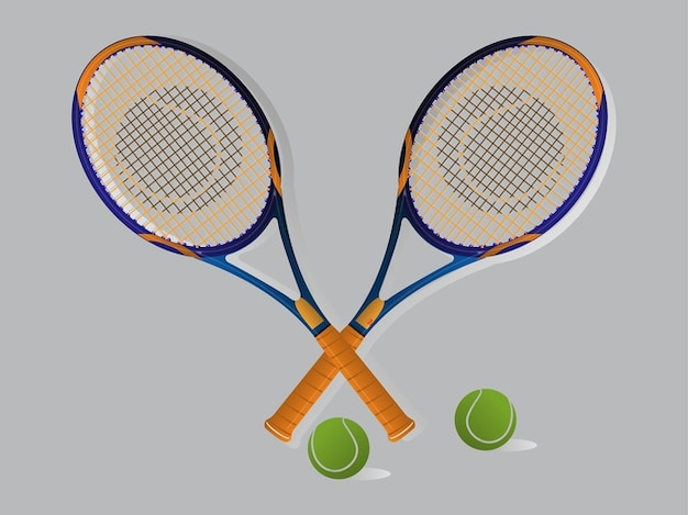 Tennis game rackets and balls pattern\ vector