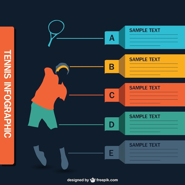 Tennis infographic vector vector free download for Sports infographics templates