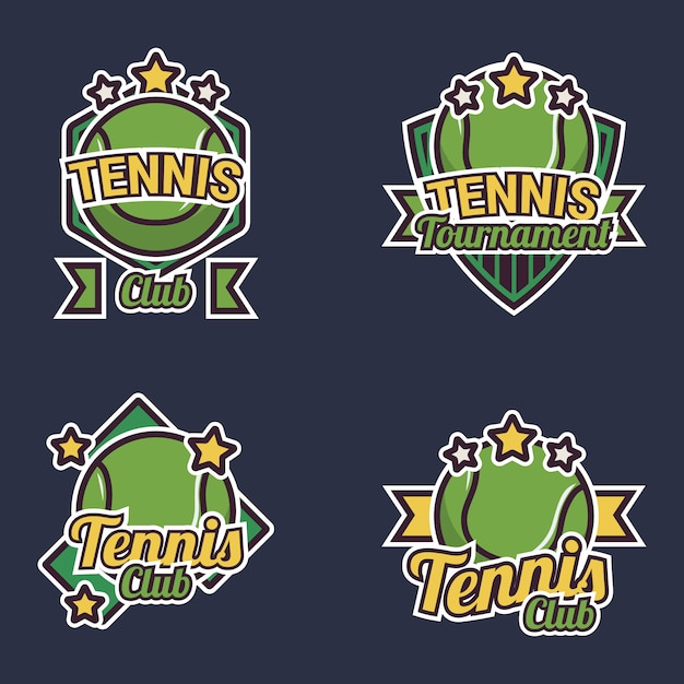 Tennis label collection