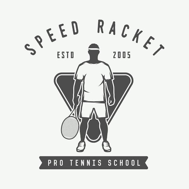Tennis logo, badge Premium Vector