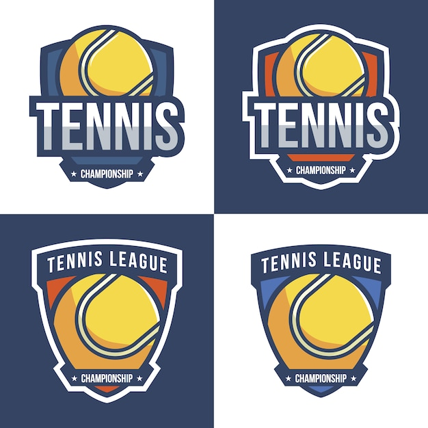 Tennis logo design collection