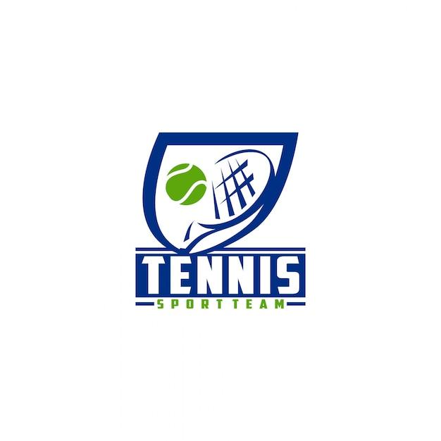 tennis logo design template vector premium download rh freepik com  tennis logo design template