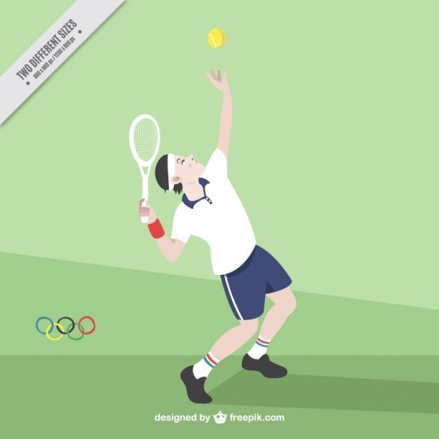 Tennis player background Premium Vector