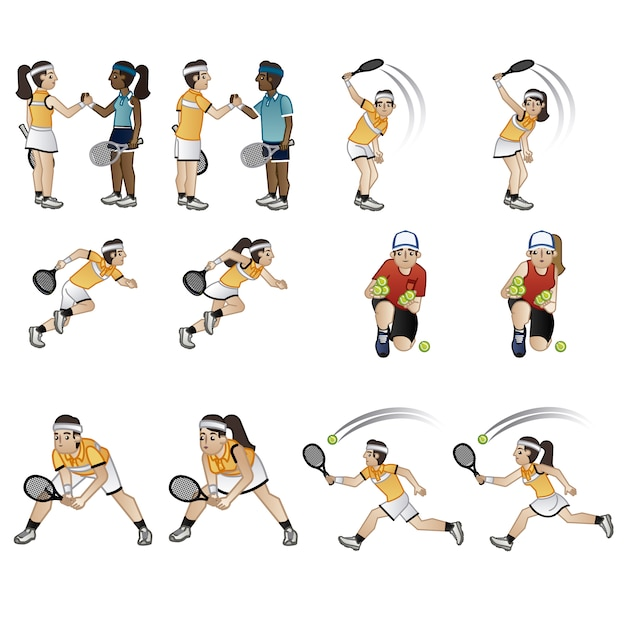 Tennis player characters collection