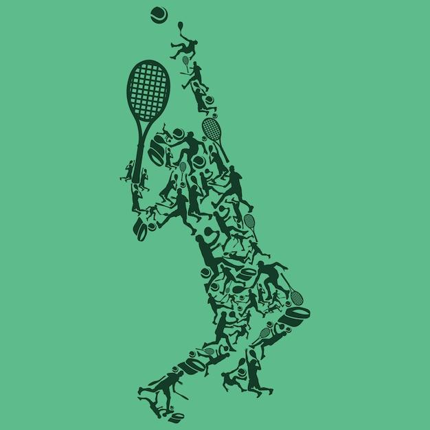 Tennis player Premium Vector