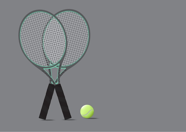 Tennis Racket And Tennis Ball Background Illustration Vector
